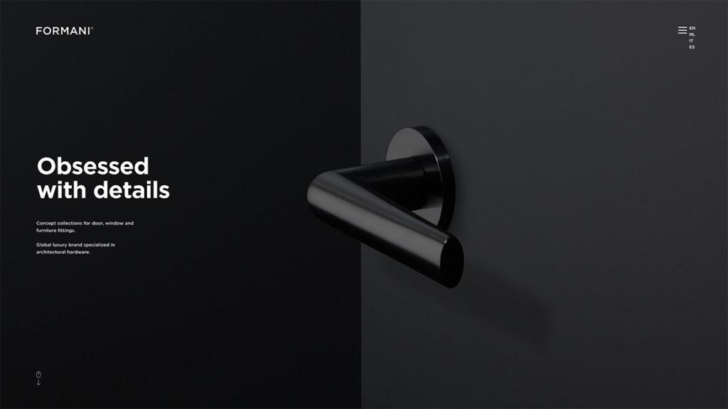Minimalistisches Webdesign Blog Beispiel Formani Leon Voßmüller