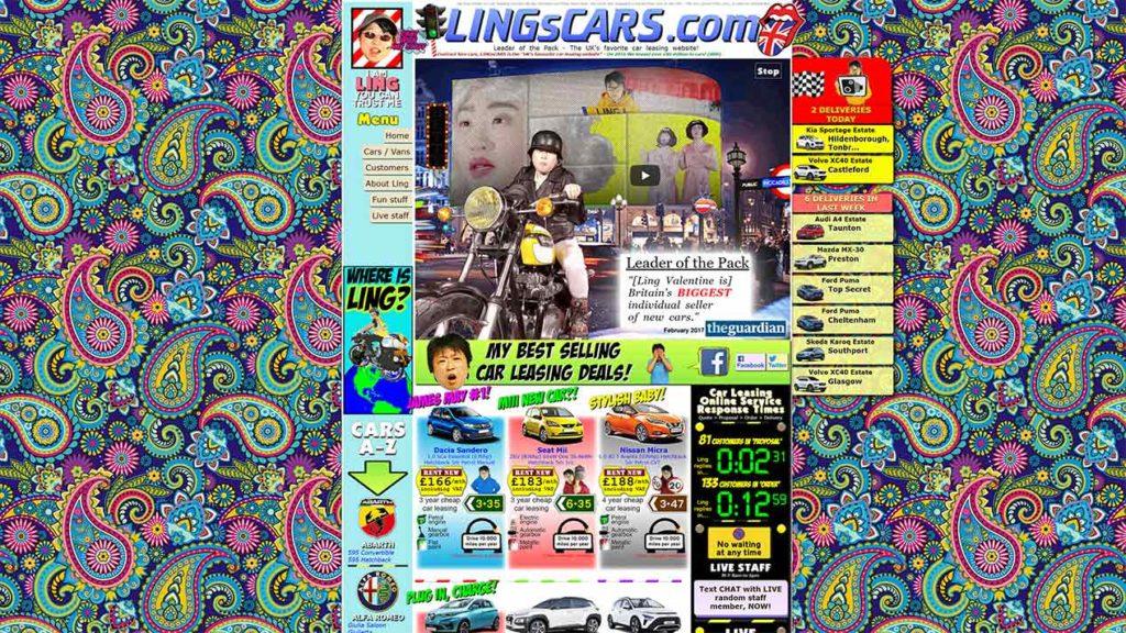 Minimalistisches Webdesign Blog Beispiel Lings Cars Leon Voßmüller