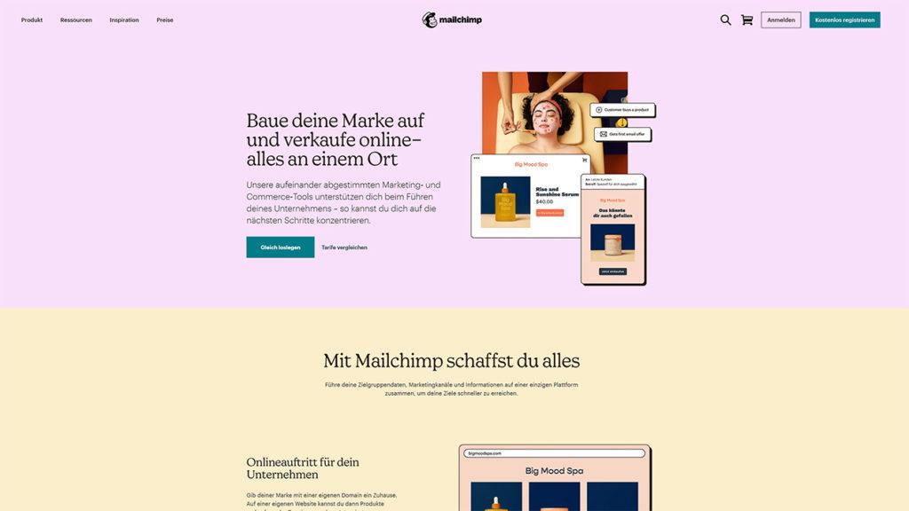 Minimalistisches Webdesign Blog Beispiel Mailchimp Leon Voßmüller