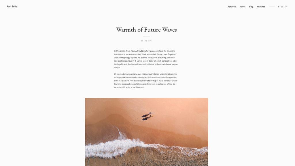 Minimalistisches Webdesign Blog Beispiel Paul Stills Leon Voßmüller